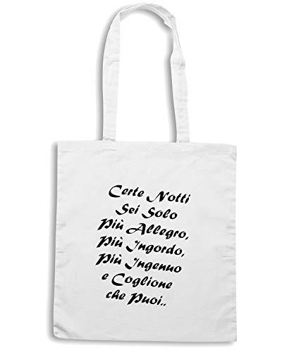 ALLEGRO Borsa Bianca NOTTI SEI CERTE Shopper Shirt SOLO TDM00040 Speed PIU xH1Pwvn5