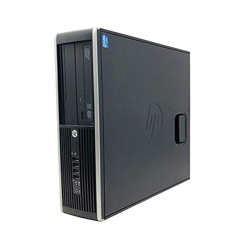 HP Elite 8200 - Ordenador de sobremesa (Intel Core I5-2400 Quad Core, 8GB Ram,HDD de 250 GB, Lector DVD, Sistema OPERATIVO Windows 10 Pro Original) Negro (Reacondicionado)