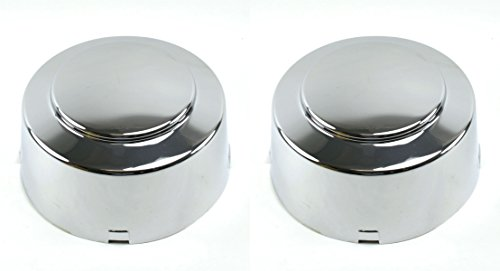 (BB Auto New Rear Wheel Chrome Center Caps Pair/Set of 2 Replacement for 1999-2004 Ford F350 Super Duty Dually (Dual Rear Wheel))