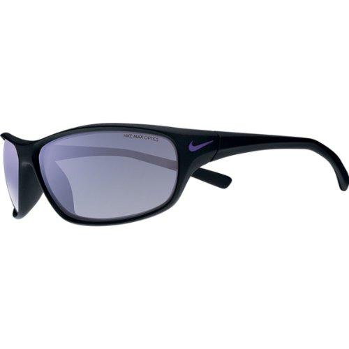 Nike Grey with Mild Violet Flash Lens Rabid R Sunglasses, Matte Black/Electric - Vision Electric Sunglasses