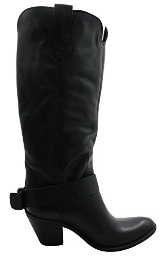 nbsp;Davinci High toe Knee 3836 nbsp;Boots Women's Black Round Leather nbsp;Italian 5wBRa6qX