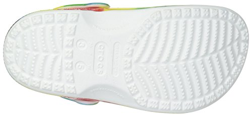 Crocs Unisex-Kids Classic Tie Dye Graphic K Clog, Multi, 1 M US Little Kid by Crocs (Image #3)
