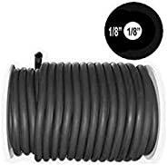 """50 Feet Black Rubber Latex Thick Walled Tubing (a.k.a. 3/8"""" Speargun Band / Sling Tubing) 3/8""""OD 1/8"""