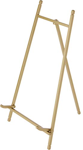 Bard's Satin Gold-Toned Metal Easel, 12