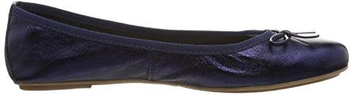 Tamaris 1-1-22165-28 952, Bailarinas Mujer Azul (Navy Metallic 824)