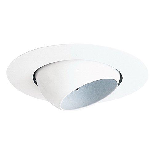 Line Voltage Eyeball Trim - Juno Lighting 19-WH 4-Inch Mini Eyeball Recessed Trim, White