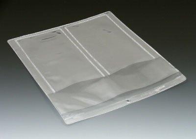 10'' x 12'' Multi Pocket Clear Vinyl Organizer with 3 Pockets & Hang Hole (7.5 Gauge) (100 Organizers) - AB-99-3-4
