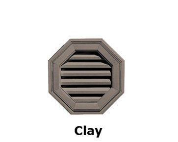 "Mid-America Octagon Vinyl Gable Vents 18"" - 008 Clay"