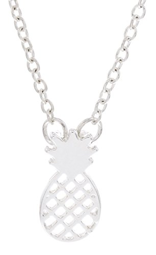 Pineapple Necklace Silver-Tone Fashion Preppy Jewelry Cable Chain Necklace Jewelry Box Keepsake