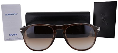 Persol PO9649S Sunglasses Havana Brown w/Brown Gradient Lens 97251 - Hut Sunglass France