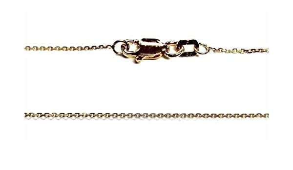 """18kt 18K Yellow Solid Gold 16/"""" 18/"""" .8mm Diamond Cut Cable Necklace Chain Lobster"""