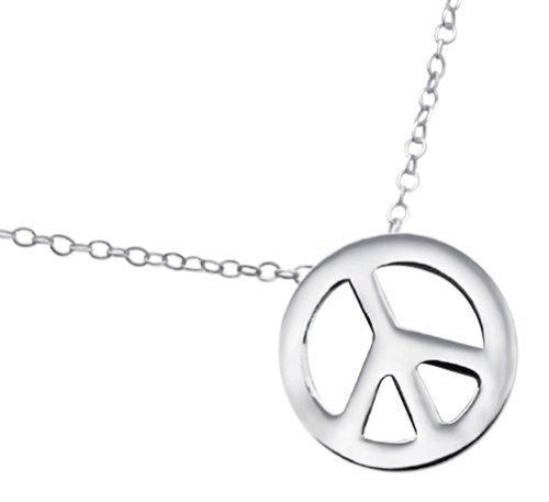 029c7eccb0f0 Laimons Damen-Halskette peace glanz mit Kette 45cm Sterling Silber 925   Amazon.de  Schmuck