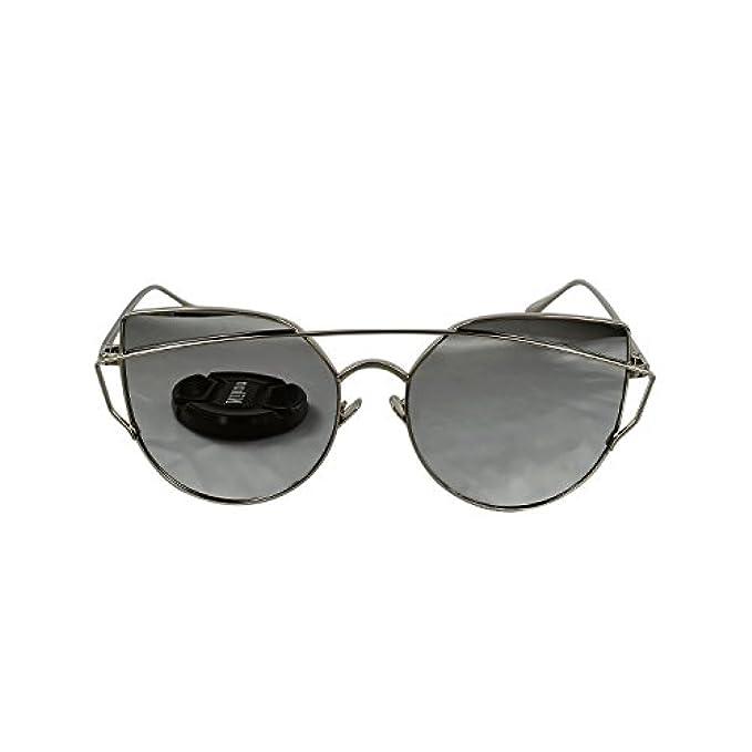 Vintage Lens Argento Da Reflcetive Occhiali In Ucspai Cat-eye Retro Sole