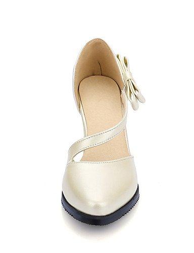 us5 White Talons chaussures talons À Eu35 Argent Uk3 Cn34 soirée Décontracté Talon Femme amp; Chaussures Habillé gros Blanc Pointu Bout Evénement Ggx rose qTUHZT