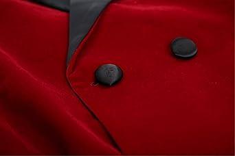 One Button Mens Suit Velvet Blazer Peak Lapel Business Jacket