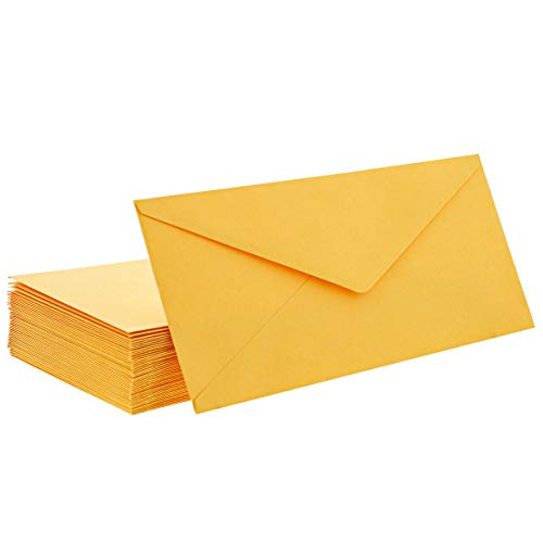 Juvale 50-Pack #12 Manila Colored Business Envelopes, 4 3/4 x 11 Inches