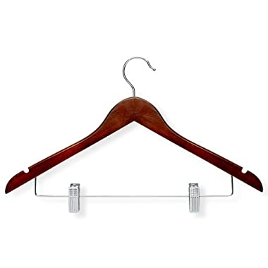 Honey-Can-Do HNGT01210 Basic Suit Hangers with Clips Cherry, 12-Pack