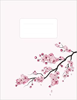 Japanese Composition Notebook: Sakura Cherry Blossom Tree: 100 Pages Of 7.5