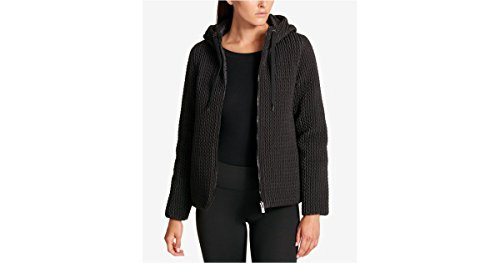 - DKNY Sport Womens Reversible Puffer Coat, Black, Large