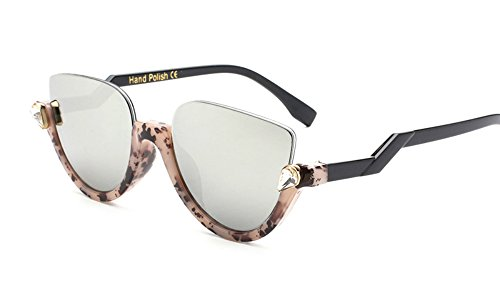 Jeweled Sunglasses Semi Cat Eye Glasses for Women Plastic Half Rim Frame (Tortoise Black/Silver, - Eyeglass Frames Bling