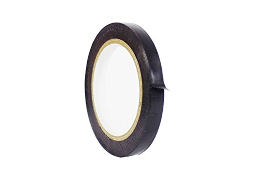 WOD CVT-536 Black Vinyl Pinstriping Dance Floor Tape, Safety Marking Floor Splicing Tape (Also Available in Multiple Sizes & Colors): 1/2 in. wide x 36 yds. (Pack of 1)