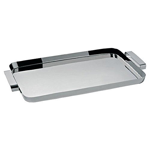 Alessi KL09 Tau Tray with Handles, Silver by Alessi