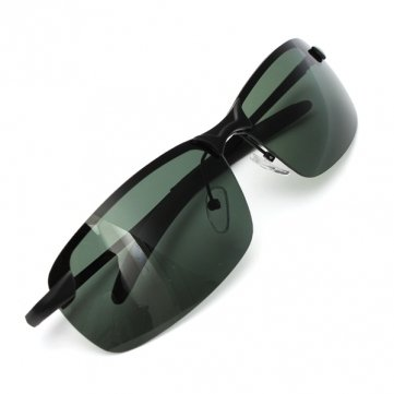outdoor-sunglasses-dark-green-metal-frame-polarized-sunglasses