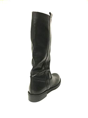 In Italy Stivali Shoes Zeta Vera Nero Made Basso Tacco Donna Pelle nBpzFxW
