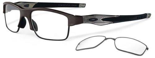 oakley eyeglass frames 6qn7  Oakley OX3128-02 Crosslink Switch Eyeglasses-Pewter/Gray Smoke/Black-53mm