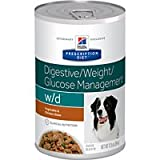 Hill's Prescription Diet w/d Digestive Weight Glucose Management with Vegetable & Chicken Stew Canned Dog Food 12/12.5 oz