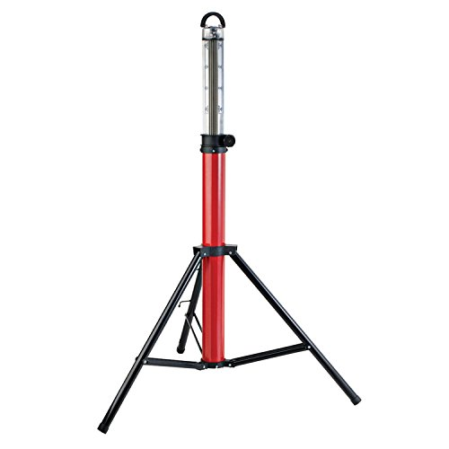 Globe Electric 360° Portable LED Expandable Boomstick Worklight, 48 Watts, 3500 Lumens, Red Finish 66282,