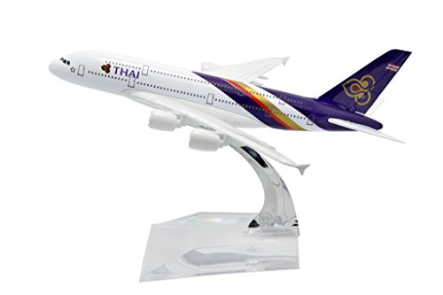 TANG DYNASTY(TM) 1:400 16cm Air Bus A380 Thai Airways Metal Airplane Model Plane Toy Plane Model