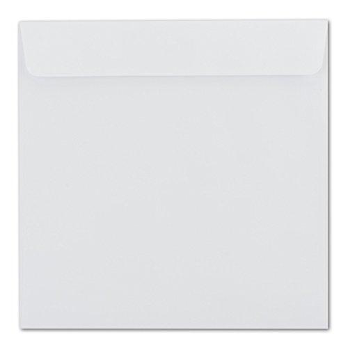 Briefumschläge Quadratisch 220 x 220 mm - Weiß     150 Stück   EXTRA QUALITÄT - 100 g m²   22 x 22 cm - Für ganz besondere Anlässe  - Haftklebung - Qualitätsmarke  GUSTAV NEUSER B077GQJN7C | Qualitativ Hochwertiges P 2c7476