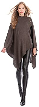 Seraphine Madison Maternity Bamboo Poncho & Nursing Shawl - Winter Weight - Brown - One Size