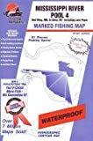 Fishing Hot Spots Map for the Mississippi River (Pool 4)