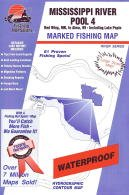 Fishing Hot Spots Map for the Mississippi River (Pool 4) by Fishing Hot Spots