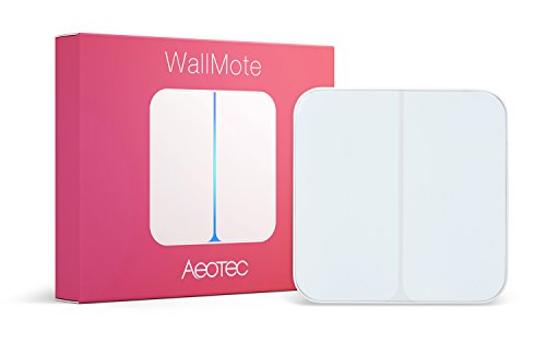 Aeotec WallMote, Z-Wave Plus wireless wall switch, 2 button,