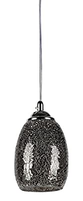 Chloe Lighting CH3GY16DC05-DP1 Melia Mosaic 1-Light Ceiling Mini Pendant with 4.8-Inch Shade