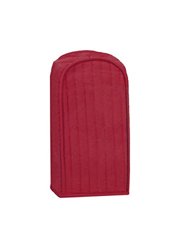 Blender Appliance Cover (RITZ Polyester / Cotton Quilted Blender Appliance Cover, Dust and Fingerprint Protection, Machine Washable, Paprika Red)