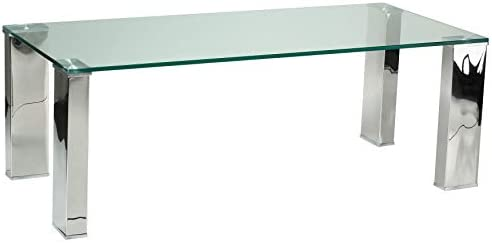 Cortesi Home Isaak Contemporary Glass Coffee Table