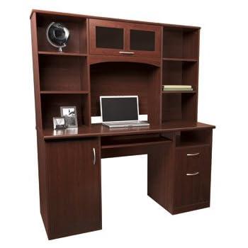 Amazon Com Sauder 418650 Computer Desk With Hutch Milled