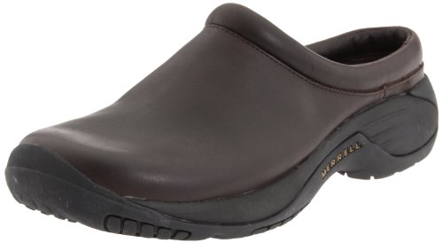Merrell Men's Encore Gust Slip-On Shoe,Smooth Bug Brown Leather,12 M US (Merrell Fur Clog)