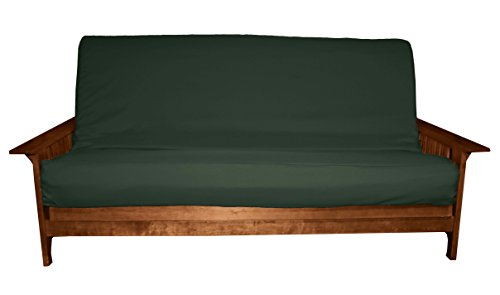 Better Fit Machine Washable Upholstery Grade Futon Cover , Full 8-inch Loft-size, Twill Huntergreen