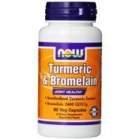 Now Foods Turmeric and Bromelain Veg Capsules, 90 Count Sold By HERO24HOUR Thank You