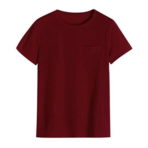 SANFASHION Mujer Algodón Para Damen Bekleidung Bailarinas de Borgoña Shirt155 SANFASHION rOnr1wq8a