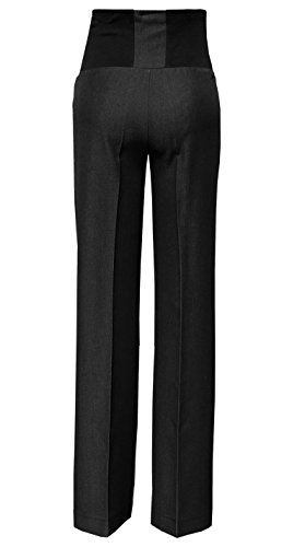 Black Tailored Trouser - Mija - Elegant Classic Formal Smart Tailored Maternity Trousers Over Bump 1011A (US 18 / L31, Anthracite Black)