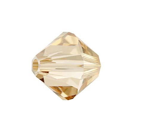 (50pcs x Preciosa Bicone Crystal Beads 8mm Golden Shadow Compatible with Swarovski #5301/5328#preb828)