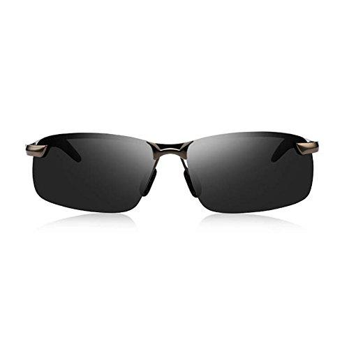 Aire Clásico Black Hombres Luz Gafas Sol De 100 WYYY Conducción De UVA Protección Color Polarizada Libre Gray black Protección Black Anti Gafas Solar Gafas UV c8qpWwvFw