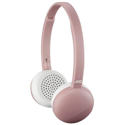 JVC Flats Wireless On Ear Headphones, Light Weight, 11 Hours Long Battery Life – HAS20BTP (Pink)
