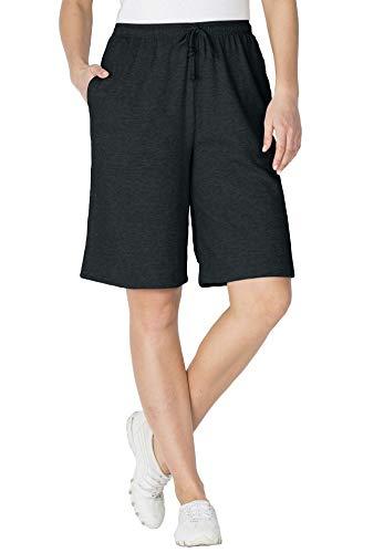 Women's Plus Size Sport Knit Short (Drawstring Capri Shorts)